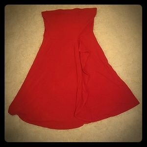 Ann Taylor reddish strapless dress